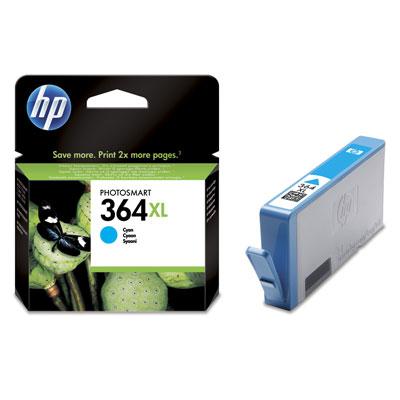 Originální HP 364 XL - azurová inkoustová kazeta, CB323EE