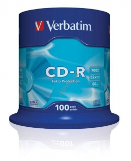 VERBATIM CD-R80 700MB/ 52x/ Extra Protection/ 100pack/ spindle