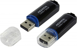 Flashdisk ADATA C906 Flash 32GB, USB 2.0, černý