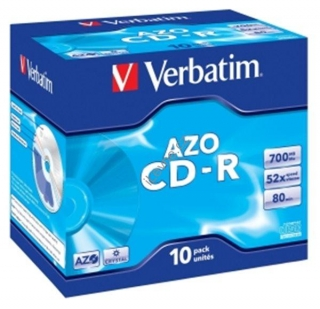 VERBATIM CD-R80 700MB DLP/ 52x/ 80min/ jewel/ 10pack