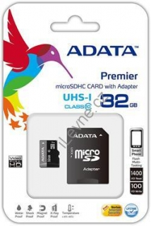 ADATA 32GB Micro SD SDHC class 10 Adapter/UHS-I Premier