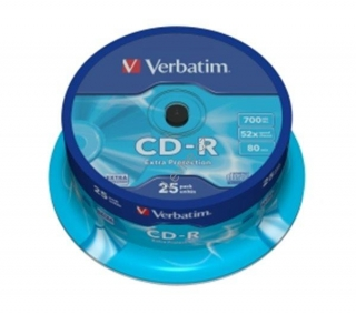 VERBATIM CD-R80 700MB/ 52x/ Extra Protection/ 25pack/ spindle