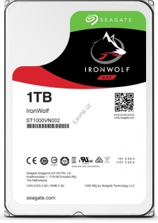 "Seagate IronWolf 1TB HDD, ST1000VN002, interní 3,5"", 5900 rpm, SATA 6Gb/s"