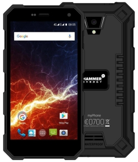 "myPhone Hammer Energy - černý 5"" IPS/1280x720/IP68/16GB/LTE/ 2GB RAM/8Mpx + 2Mpx/Android 6"