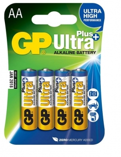 GP alkalická baterie Ultra Plus AA 4ks blistr