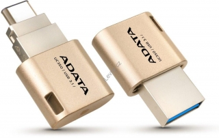ADATA DashDrive Choice UC350 32GB / USB 3.1 Type-A, Type-C / OTG / zlatá