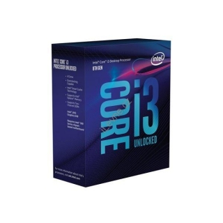 INTEL Core i3-8100 / Coffee Lake / LGA1151 / max. 3,6 GHz / 4C/4T / 6MB / 65W TDP / BOX