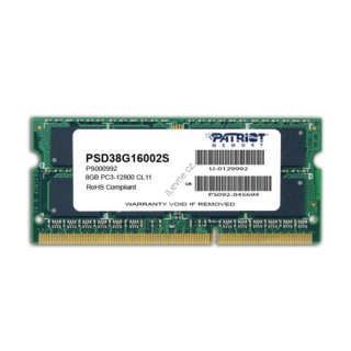 PATRIOT Signature 8GB DDR3 1600MHz / SO-DIMM / CL11 / PC3-12800